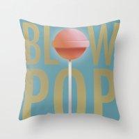 BLOW POP Throw Pillow
