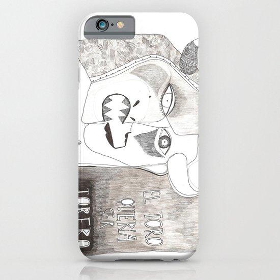 El toro que quería ser torero iPhone & iPod Case