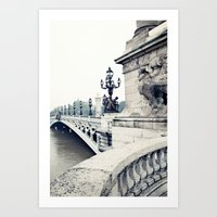 Paris in black and white Art Print