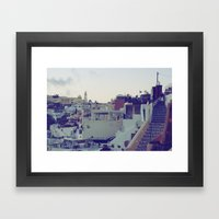 Fira at Dusk V Framed Art Print