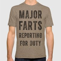 Major Farts Mens Fitted Tee Tri-Coffee SMALL