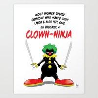 ...So Basically, A Clown… Art Print