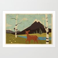 Bambiland Art Print