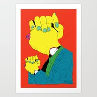 Knuckle Head III - Gary Art Print