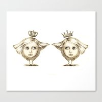 Siamese Queens Canvas Print