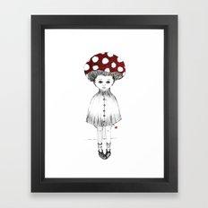 Mushroom Girl Framed Art Print
