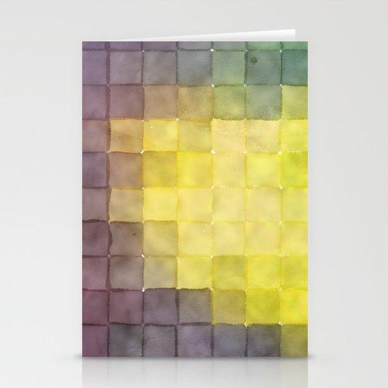 Polaroid Pixels V (Leaf heart) Stationery Card
