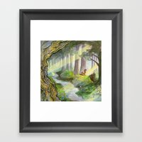 Ithilien, By A Quiet Str… Framed Art Print