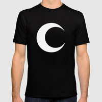 MOON Mens Fitted Tee Black SMALL