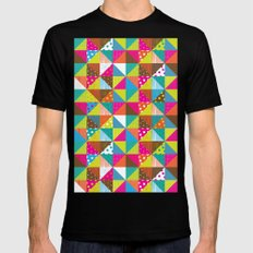 Crazy Squares Mens Fitted Tee Black SMALL