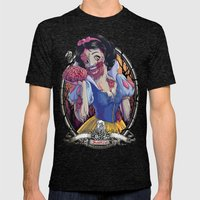 Zombie Snow White Mens Fitted Tee Tri-Black SMALL