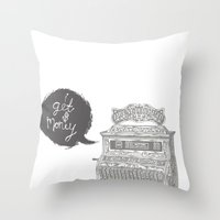 cash register Throw Pillow