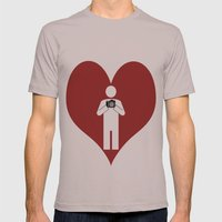 T-Shirt I Love Photography T-Shirt Mens Fitted Tee Cinder SMALL