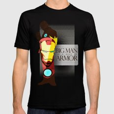 Suit of Armor : Iron Man Mens Fitted Tee Black SMALL