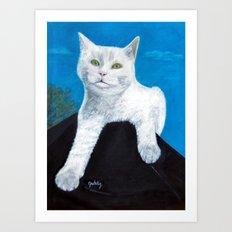Bianca Cat Portrait Art Print