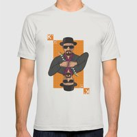 Walter White king of clubs Mens Fitted Tee Silver SMALL