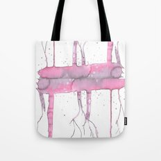 Pink trees Tote Bag