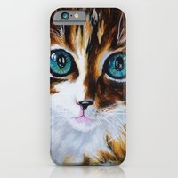 iPhone & iPod Case featuring Whiskers the Cat by Annette Jimerson
