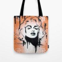 SF Giants X Marilyn Monr… Tote Bag
