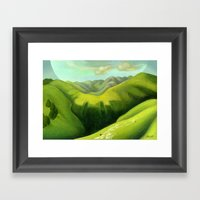 Mustering At The End Of … Framed Art Print