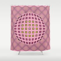 Pop pink Shower Curtain