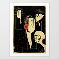 乐 Music Lovers / Vintage  Art Print