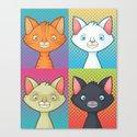 Pop Cats Canvas Print