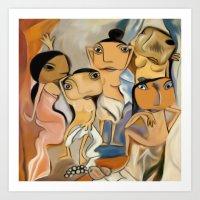 Les Demoiselles D'Avigno… Art Print