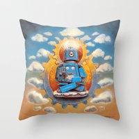 Buddha Bot V5  Throw Pillow
