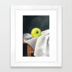 Lonely Apple Framed Art Print