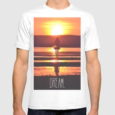 DREAM SMALL White Mens Fitted Tee