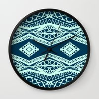 Modern Diamond - Navy An… Wall Clock