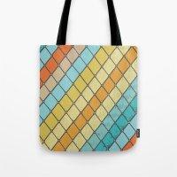 Fish Aqua Print Tote Bag