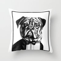 Puglass Throw Pillow
