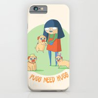 iPhone & iPod Case featuring Pugs need hugs by Binnyboo