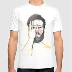 Self Portrait White Mens Fitted Tee SMALL
