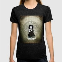 Moonchild Womens Fitted Tee Tri-Black SMALL
