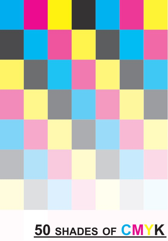 50 shades of CMYK Canvas Print