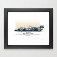 #3 LOLA - 1993 - T9300 - Al Unser Jr Framed Art Print