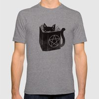 Witchcraft Cat Mens Fitted Tee Tri-Grey SMALL