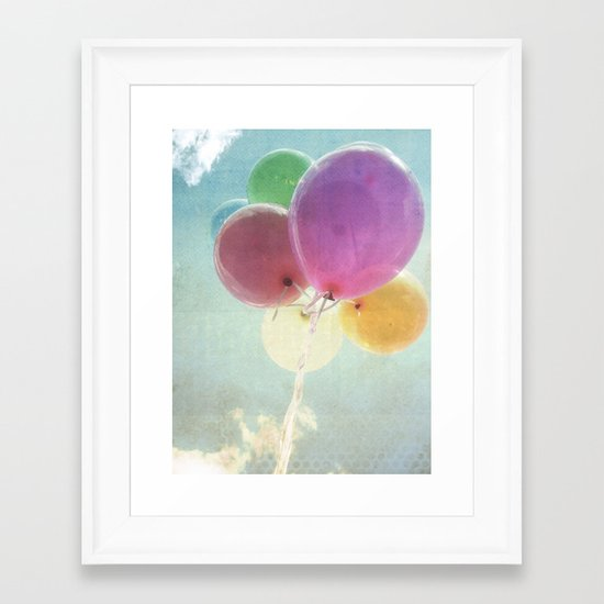 summer balloon Framed Art Print