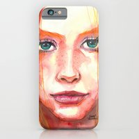 iPhone & iPod Case featuring Portrait - RedHair & Freckles by Smog