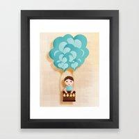 Flotando Con Mi Imaginac… Framed Art Print