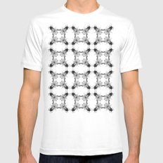 Fly paper SMALL White Mens Fitted Tee