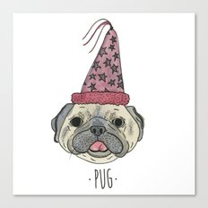 Party Pug Canvas Print