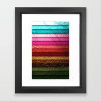 Chic Leather Glitter Stripes Framed Art Print