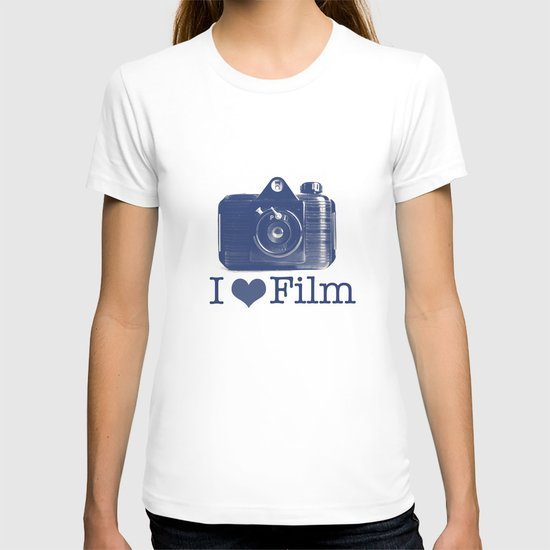 I ♥ Film (Blue/Peach) T-shirt