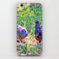 Hens In A Field iPhone & iPod Skin