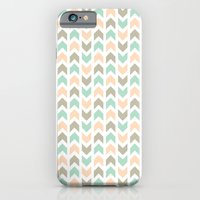 Pattern: Olive + Peach Arrows iPhone 6 Slim Case