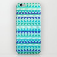 Winter Aztec Pattern iPhone & iPod Skin